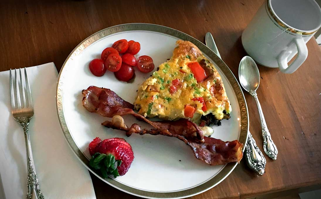 Gourmet Breakfast is Included with your Stay